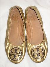 TORY BURCH Gold Metallic Ballet Flats EU 38 Great Condition!!!!