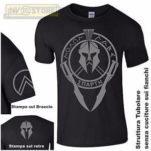 Negro Espartano Camiseta Detalles Militar Hombre Casco De Molon Labe G Spartan PXZuwTOkli