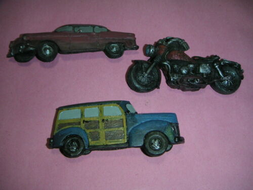 Cars /& Motorcycle - # 2460 set of 3 Magnet