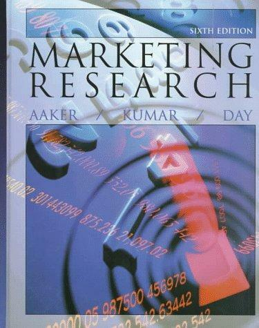 Marketing Research (6th ed), Aaker, David A. & Kumar, V. & Day, George S., Used;
