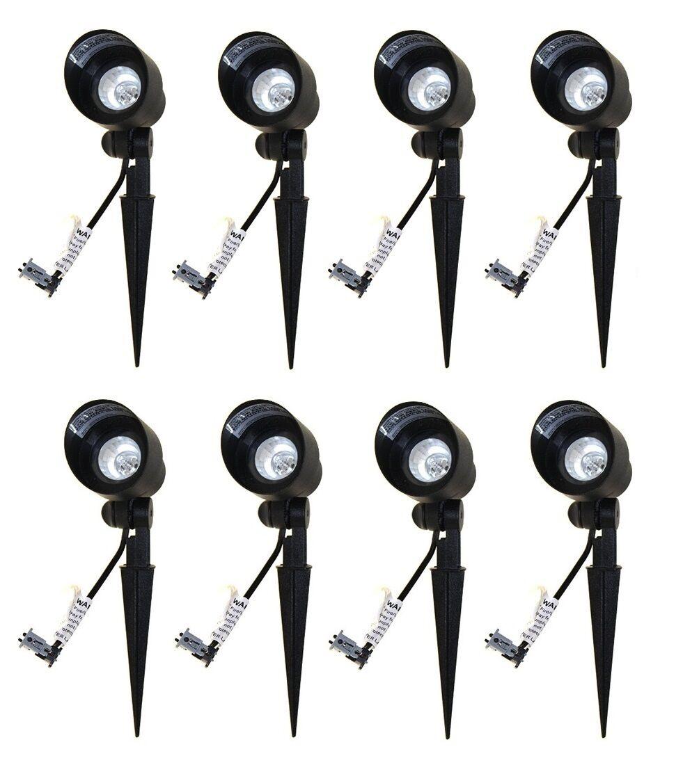 8 Malibu 8301-9604-01 20W Bi-Pin Metal Fundido Spot Luces Raíl Spotlight Negro