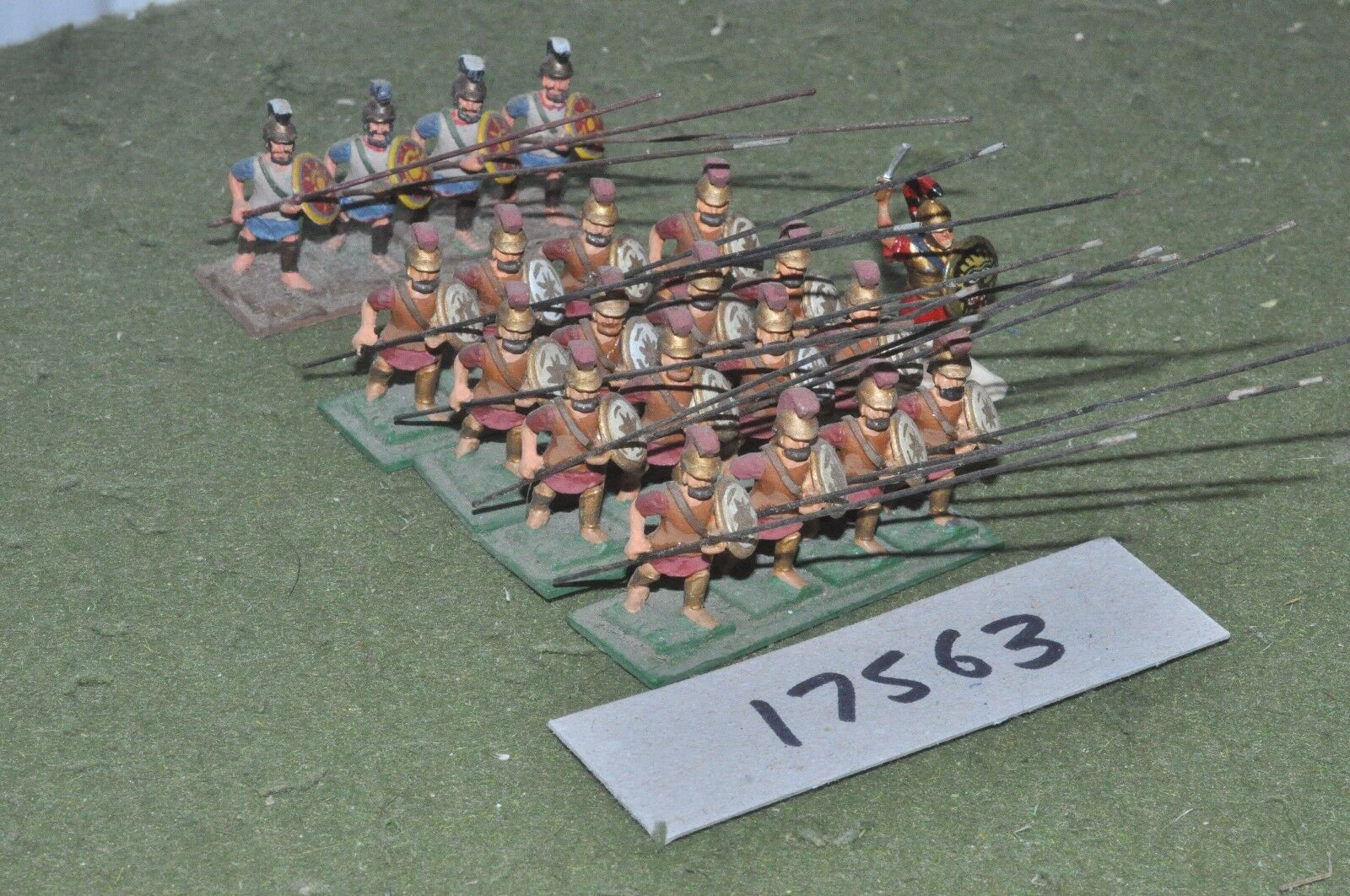 25mm classical   greek - ancient hoplites 20 figs - inf (17563)