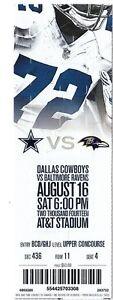 2014-DALLAS-COWBOYS-VS-BALTIMORE-RAVENS-TICKET-STUB-8-16