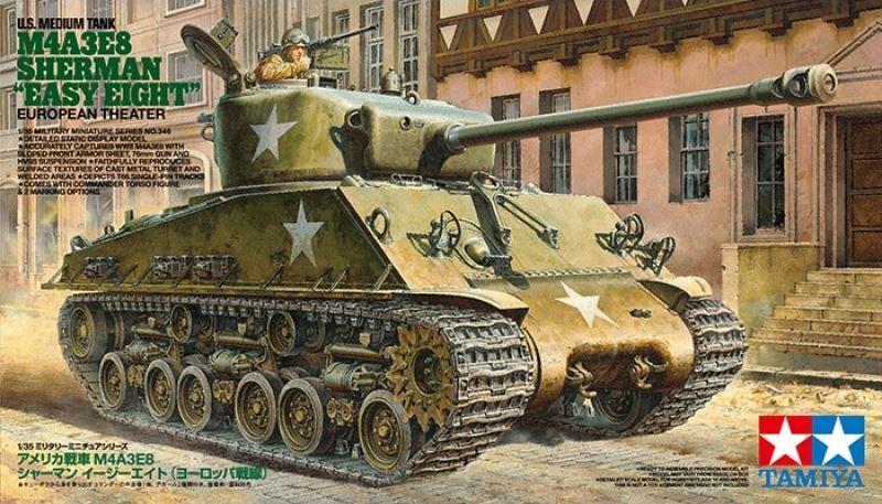 Tamiya M4A3E8 Sherman Easy 8 Tank 1 35 Scale Kit