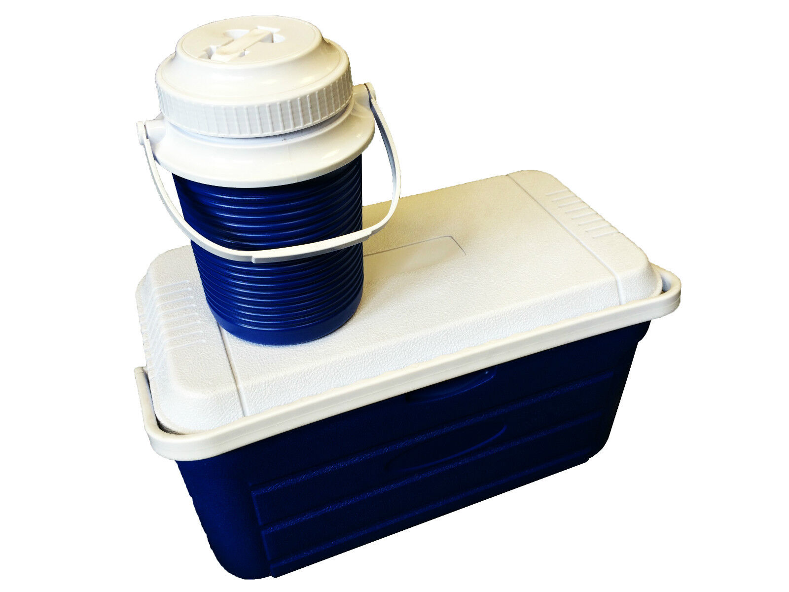 20 LITRE COOL BOX - SEAT and free 2.3 LITRE DRINKS JUG camping fishing picnics
