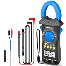 Digital Clamp Meter Multimeter True Rms Acdc Continuity Resistance 60m Tester