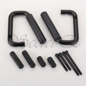 2×Front Grab Handle Bars Black Handles for 07-17 Jeep Wrangler JK 2 Door&4 Door