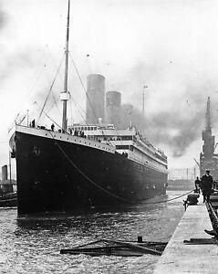 RMS Titanic Ship at Docks 1912 Southampton 8 x 10 Photo Photograph Picture #fb1