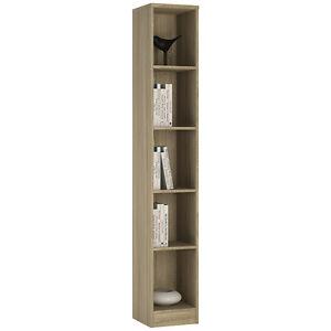 Image Is Loading Ferrer Oak Effect Tall Slim Narrow Bookcase Bookshelf