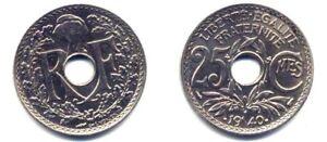 + Lindauer . 25 Centimes 1940 .