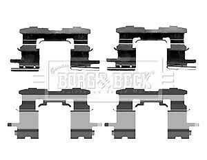 Brake-Pad-Fitting-Kit-fits-TOYOTA-PRIUS-NHW20-1-5-Front-03-to-09-1NZ-FXE-B-amp-B-New