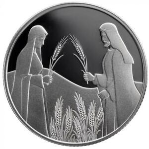 ISRAEL-COIN-amp-MEDAL-2020-BIBLE-STORY-RUTH-IN-BOAZ-039-S-FIELD-PROOF-SILVER