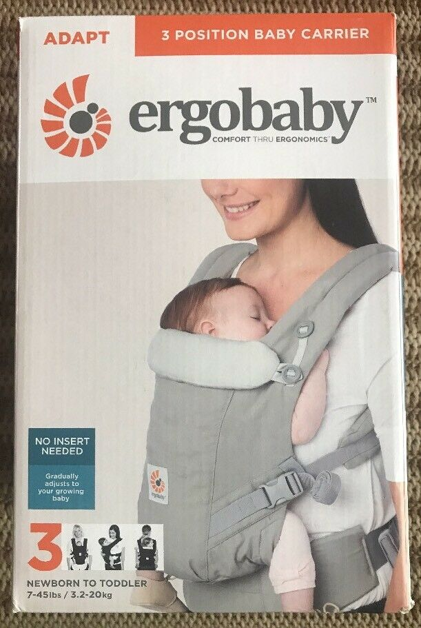 751534c2cf8 Ergobaby ADAPT 3 Position Baby Carrier Pearl Grey Ergo 7 to 45 ...