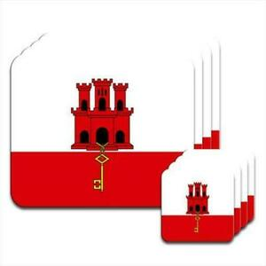 Gibraltar-Flag-Set-of-4-Placemats-amp-Coasters
