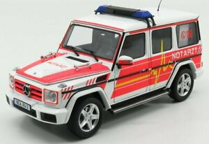 I-SCALE MERCEDES BENZ   G-CLASS (W463) NOTARZT AMBULANCE 2015   WHITE RED YELLOW