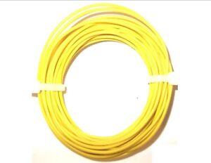 7 x 0.2mm Equipment wire Yellow 7 Strand 10 Metres *Top Quality! Cable