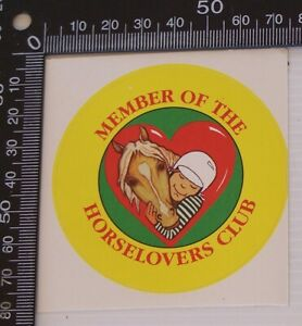 VINTAGE-MEMBER-OF-THE-HORSELOVERS-CLUB-HORSE-SOUVENIR-PROMO-STICKER-DECAL