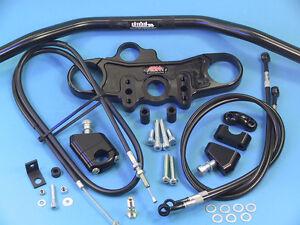 ABM-Superbike-Lenker-Umbau-Kit-fuer-YAMAHA-YZF-1000-R-1-039-02-039-03-RN09-schwarz