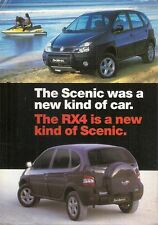 Renault Scenic RX4 1999-2000 UK Market Preview Leaflet Sales Brochure