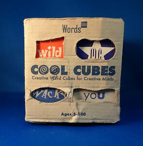 words cubed cool cubes make sentences invent a wild saying creative