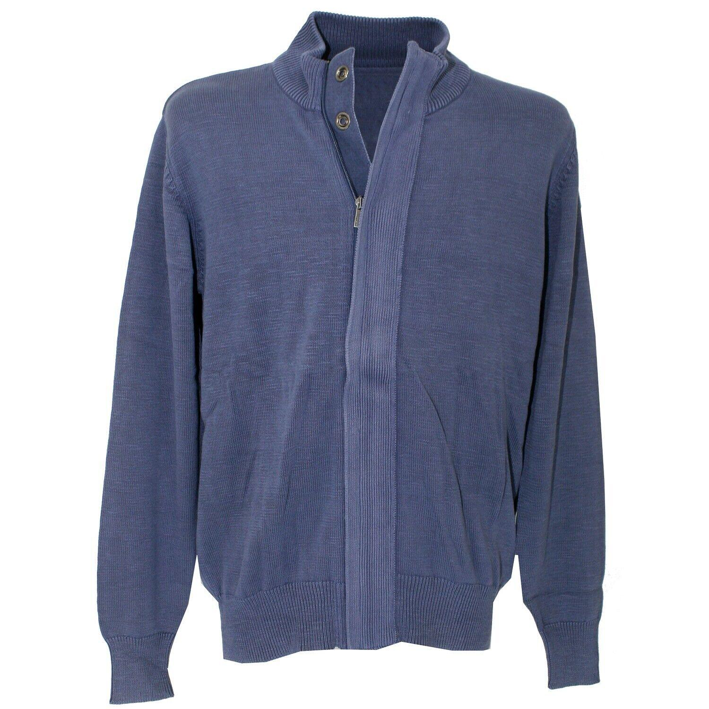 Kitaro manga larga chaqueta de punto basalto Blue azul gris Antik 16876