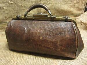 Image Is Loading Vintage Leather Doctor Bag Gt Antique Bags