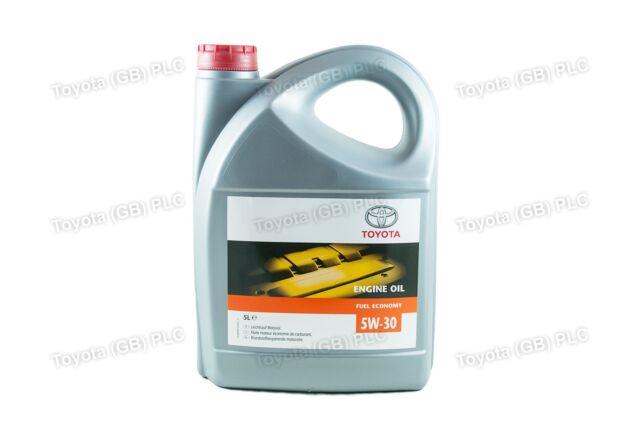 Genuine Toyota Engine Motor Oil 5w30 Fuel Economy 5 Litre 0888080845