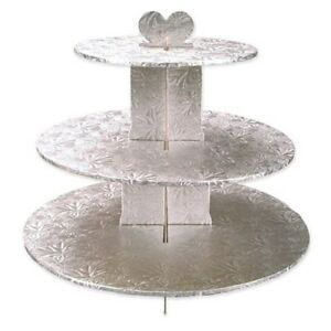 SILVER-FOIL-3-TIER-CUPCAKE-STAND-13-034-HIGH