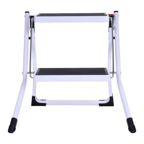 Protable 2 Step Ladder Stool Folding Non Slip Safety Pedal  Tread Heavy Duty