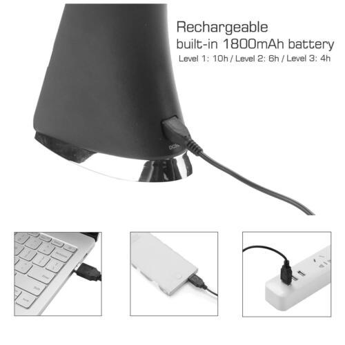 7W LED Schreibtischlampe Büro dimmbar Touch-Funktion USB Tischleuchte aufladbar