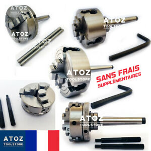 SANS-TAXE-50-65-70mm-3-4-mors-mandrin-a-serrage-CM1-a-queue-a-tenon-Filete