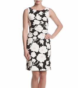 eb1e63fd Image is loading Ivanka-Trump-Floral-Print-Starburst-Sheath-Dress-for-