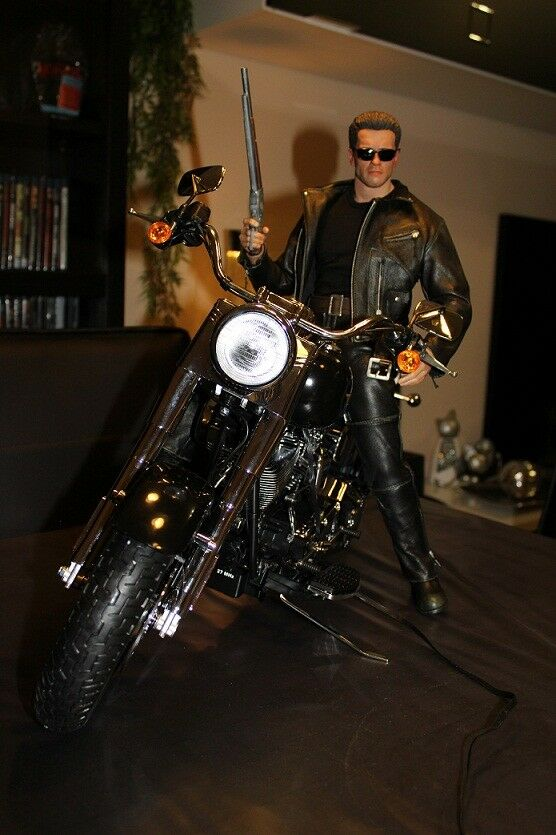 Hot Motorbike terminator figure 1 4 Enterbay T-800 T-850 T-1000 statue toys 2 3