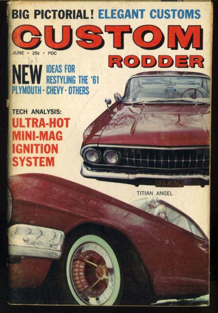 custom rodder magazine vtg June 1961 Hot Rod Plymouth Chevy Restyle pictorial