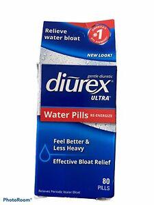 Diurex Ultra Water Pills Re-Energizing Pills-  80 Count (New) Exp: 10/21