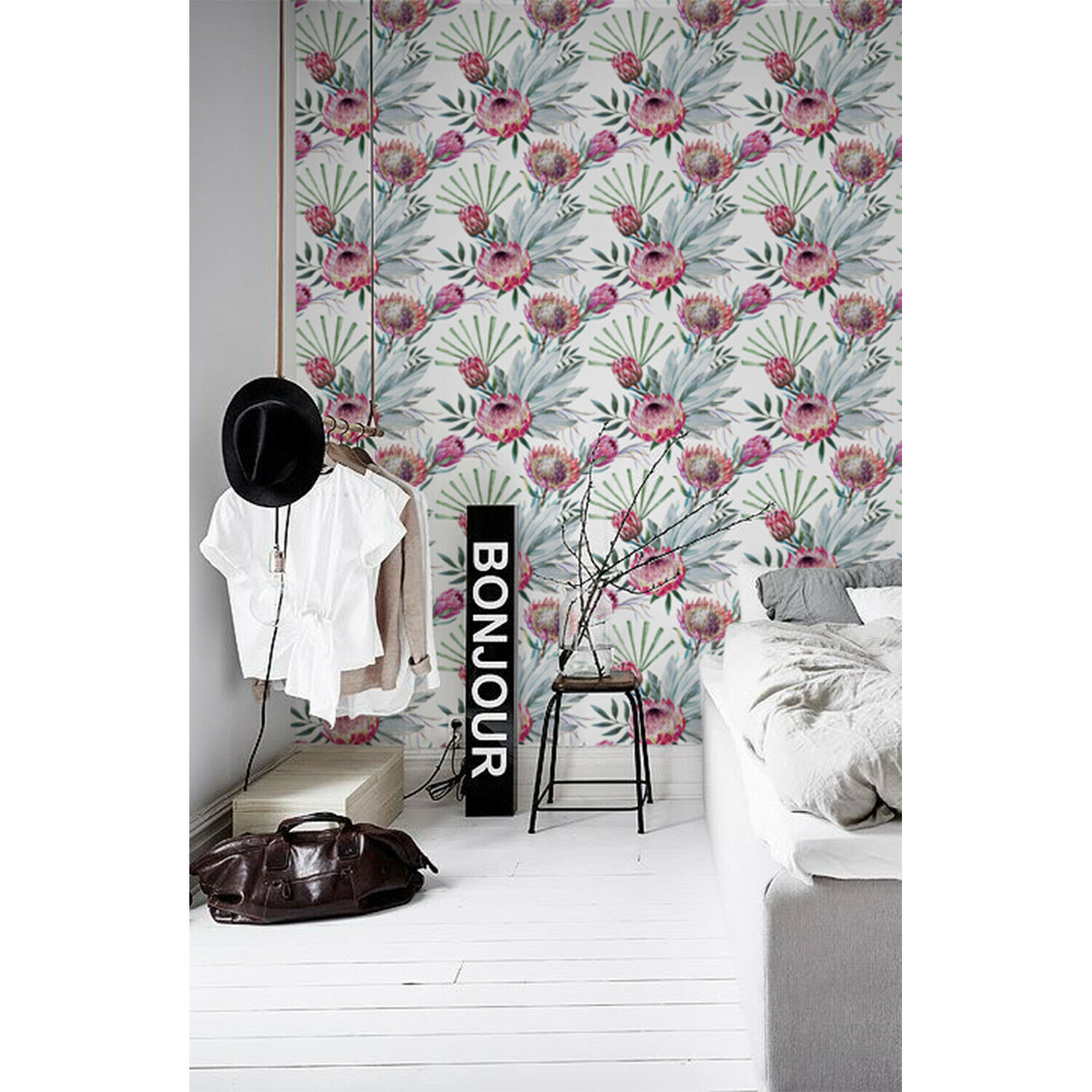 Exotic Protea Non-Woven wallpaper Floral wall Home Mural Traditional  floral