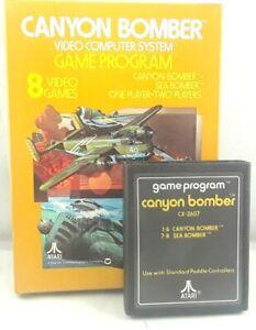 Canyon-Bomber-Atari-Atari-2600-Video-Game-in-Box-Free-Expedited-Shipping