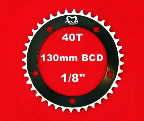 """130 BCD Track Fixie single speed 1//8/"""" MOJO Fixed Gear Chainring 40T BLACK"""