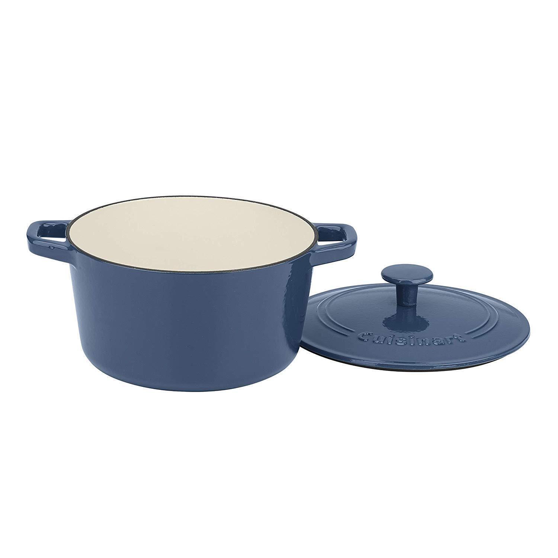 Cuisinart CI630-20BG 3 Qt Casserole, Coverouge, Enameled Provencial bleu