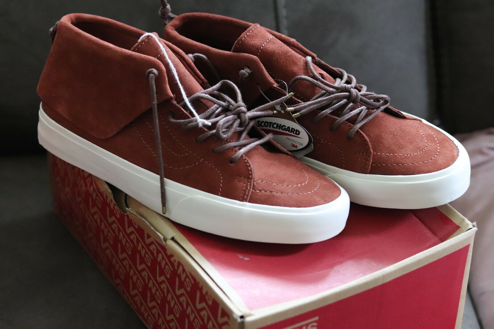 VANS SK8 High mid top 10 Suede Leather SIZE 10 top f6c61e