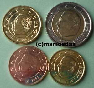 Belgien 4 Euromünzen 2005 Kleiner Euro Kms Mit 5 Cent 10 Cent 20