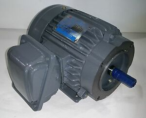 Teco 1 hp 3600 rpm tefc 208 230 460 volts 143tc 3 phase for 1hp 3 phase motor