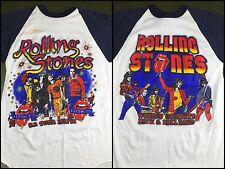 True Vintage 1981-82 Rolling Stones US Concert Tour Raglan Bootleg T-Shirt M