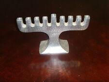 Vintage Silvertone metal Hanukkah Menorah Jewish Judaica Hebrew candelabra 48634