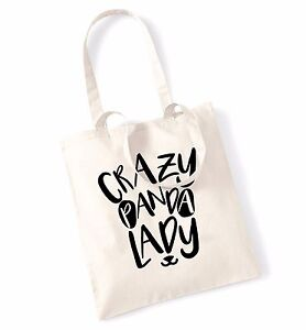 Crazy Panda Lady Tote Bag Animal Pet Hipster Tumblr Gift Cute