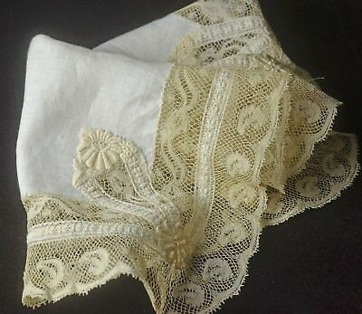 VINTAGE SILK ORGANZA HANDWOVEN WITH EMBROIDERED MOTIF 50/% OFF PP784