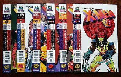 X-Men Manga #1-6 of 26 (1998 Marvel) 6BK LOT Wolverine, Gambit 9.6 NM+ SHARP SET