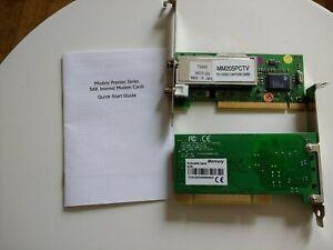 2 vecchio PC CARD: mm 205 PCTV ANALOGUE TV/Video Capture & Mercury modem interno