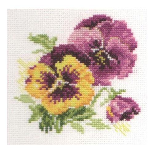 Pansies Alisa Cross Stitch Kit