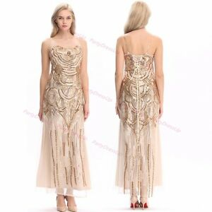 Image Is Loading 20s Vintage Dress Tail Party Fler Costume